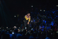 MIAMI, FL - NOVEMBER 05: Daddy Yankee performs on stage at iHeartRadio Fiesta Latina at American Airlines Arena on November 5, 2016 in Miami, Florida. Credit: MPI10 / MediaPunch