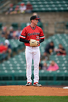 Rochester Red Wings pitcher Ryan Eades (37) during an International League game against the Charlotte Knights on June 16, 2019 at Frontier Field in Rochester, New York.  Rochester defeated Charlotte 11-5 in the first game of a doubleheader that was a continuation of a game postponed the day prior due to inclement weather.  (Mike Janes/Four Seam Images)