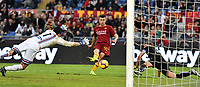 Stephan El Shaarawy of AS Roma scores fourth goal for AS Roma as Emil Audero of Sampdoria tries to save during the Serie A 2018/2019 football match between AS Roma and UC Sampdoria at stadio Olimpico, Roma, November, 11, 2018 <br />  Foto Andrea Staccioli / Insidefoto