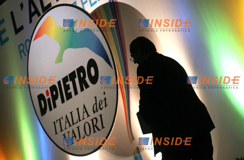 ANTONIO DI PIETRO<br /> Roma 05/02/2010 Primo congresso dell'Italia dei Valori IDV.<br /> First congress of the Italian party Italia dei Valori.<br /> Photo Samantha Zucchi Insidefoto