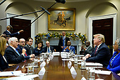 United States Vice President Mike Pence addresses US President Donald J. Trump during a roundtable on small business and red tape reduction, at the White House in Washington, DC on Friday, December 6, 2019. <br /> Credit: Kevin Dietsch / Pool via CNP