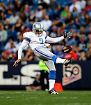 3 September 2009:  Detroit Lions' punter Nick Harris in action during a pre-season game against the Buffalo Bills at Ralph Wilson Stadium in Orchard Park, New York. The Lions defeated the Bills 17-6...Mandatory Photo Credit: Ed Wolfstein Photo