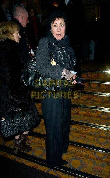 "ZOE WANAMAKER.Attending ""The Complete Works: Anthony & Cleopatra"" West End Transfer & Press Night, Novello Theatre, .London, England, 15th January 2007..full length black bag grey trousers scarf steps.CAP/CAN.©Can Nguyen/Capital Pictures"