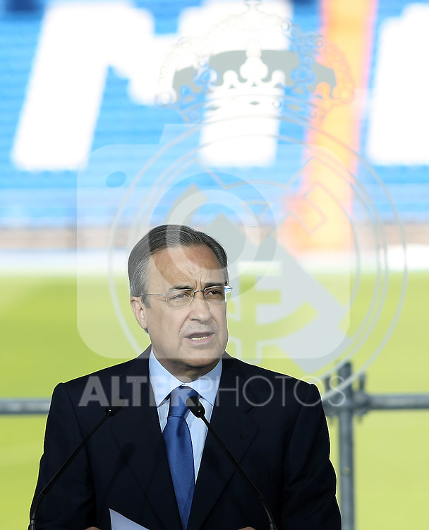 Real Madrid's new President Florentino Perez.June 1 2009. (ALTERPHOTOS/Acero).