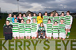 CHAMPIONS: Listowel Celtic Girls who won the Kerry under 17 Girls Cup Final at Christy Leahy Park, Mounthawk,. Tralee, on Monday evening by defeating the Camp Park,Tralee. Front l-r: Charley O'Neill, Emma Thornton, Aoife Shine, Lauren Flavin, Olivia Scanlon (capt), Cian Horgan, Rebecca Horgan, Megan Carroll and Savenna McCarthy. Back l-r: Kylie Walsh, Abbey McMahon, Geraldine Walsh, Caoimhe Dowling, Colette Foley, Sarah Tracy, Louise Horgan, Megan Fealy, Megan O'Connor, Erin Finucane, Nancy O'Neill and Aisling Grimes.....