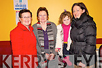 Pictured at the Beaufort Rambling House in the Community Centre on Saturday night were Noreen O'Sullivan, Eileen Rooney, Avril and Agnes Rooney.
