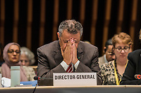 Drector-General of the WHO, Dr. Tedros Adhanom Ghebreyesus at the opening session of the Executive Board Meeting of the World Health Organisation, the UN's health body, at the organisation's headquarters in Geneva. The annual event is taking place in the shadow of the Corona virus outbreak, which the WHO has declared as global health emergency.