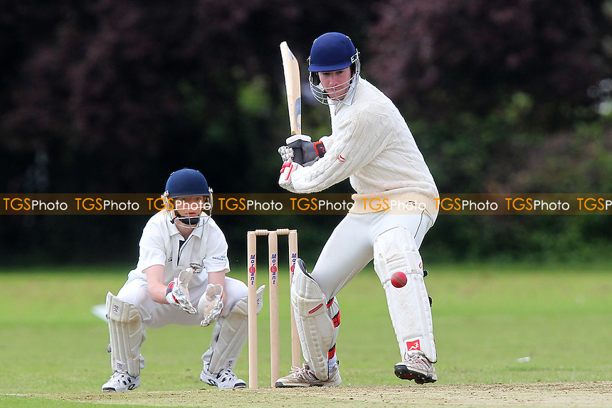 J O'Neill in batting action for Rainham - Rainham CC vs Woodham Mortimer CC - Mid-Essex Cricket League - 25/05/13 - MANDATORY CREDIT: Gavin Ellis/TGSPHOTO - Self billing applies where appropriate - 0845 094 6026 - contact@tgsphoto.co.uk - NO UNPAID USE.