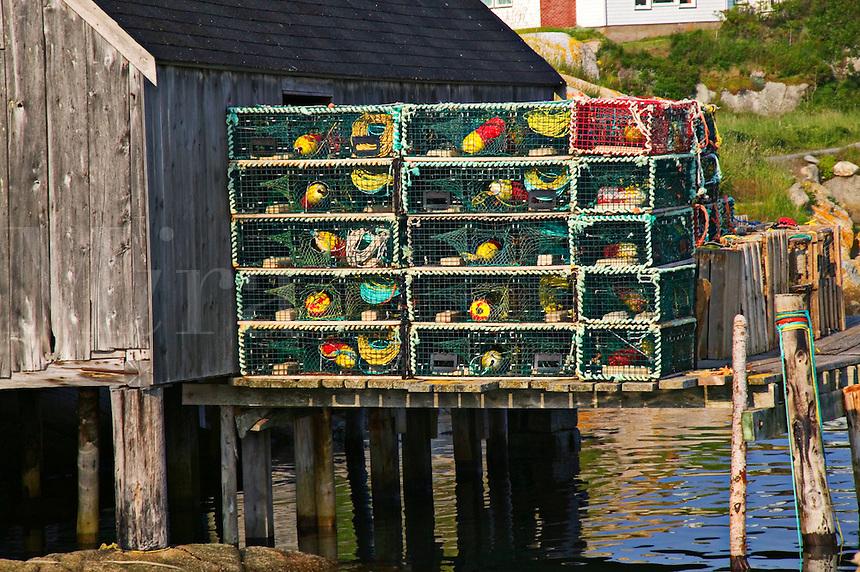 Lobster traps Peggy's Cove; Nova Scotia; Canada