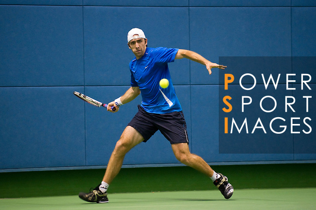 SHANGHAI, CHINA - OCTOBER 13:  Benjamin Becker of Germany in action on his match against Gael Monfils of France during day three of the 2010 Shanghai Rolex Masters at the Shanghai Qi Zhong Tennis Center on October 13, 2010 in Shanghai, China.  (Photo by Victor Fraile/The Power of Sport Images) *** Local Caption *** Benjamin Becker
