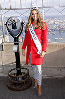 NEW YORK, NY - NOVEMBER 28:  Miss Universe 2017 Demi-Leigh Nel-Peters Visits The Empire State Building  on November 28, 2017 in New York City. Credit: Diego Corredor/MediaPunch /NortePhoto.com NORTEPOTOMEXICO