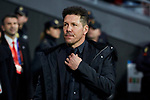 Atletico de Madrid's coach Diego Pablo Simeone during UEFA Champions League match, Round of 16, 1st leg between Atletico de Madrid and Juventus at Wanda Metropolitano Stadium in Madrid, Spain. February 20, 2019. (ALTERPHOTOS/A. Perez Meca)