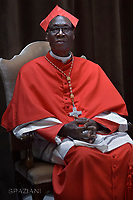 Cardinal Jean Zerbo from Mali;Pope Francis leads a consistory for the creation of five new cardinals  at St Peter's basilica in Vatican.  from countries  : El Salvador, Laos, Mali,Sweden and Spain.<br /> Cardinal Gregorio Rosa Chavez from Salvador;Cardinal Louis-Marie Ling Mangkhanekhoun from Laos;Cardinal Anders Arborelius from Sweden;Cardinal Jean Zerbo from Mali;Cardinal Juan Jos&eacute; Omella of Spain on June 28, 2017