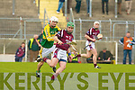 Kerry's Jason Casey and Westmeath's Paddy Dowdall.