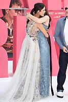 Eiza Gonzalez &amp; Lily James at the European premiere for &quot;Baby Driver&quot; at Cineworld in London, UK. <br /> 21 June  2017<br /> Picture: Steve Vas/Featureflash/SilverHub 0208 004 5359 sales@silverhubmedia.com