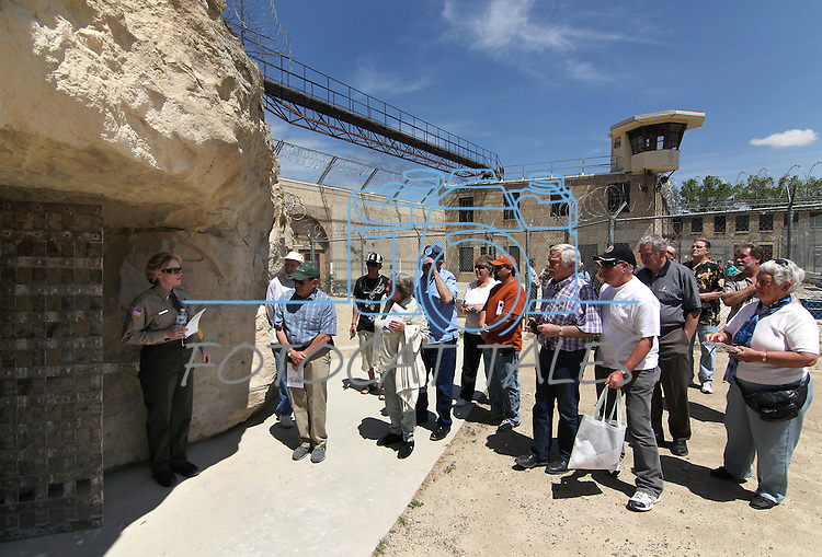 Hundreds of people took guided tours through the 150-year-old Nevada State Prison in Carson City, Nev., following a decommissioning ceremony Friday, May 18, 2012..Photo by Cathleen Allison