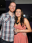 Olivia Gregory celebrating her 30th birthday in the Star and Crescent with boyfriend Dan Garner. Photo: Colin Bell/pressphotos.ie