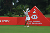Minjee Lee (AUS) in action on the 2nd during Round 2 of the HSBC Womens Champions 2018 at Sentosa Golf Club on the Friday 2nd March 2018.<br /> Picture:  Thos Caffrey / www.golffile.ie<br /> <br /> All photo usage must carry mandatory copyright credit (&copy; Golffile | Thos Caffrey)