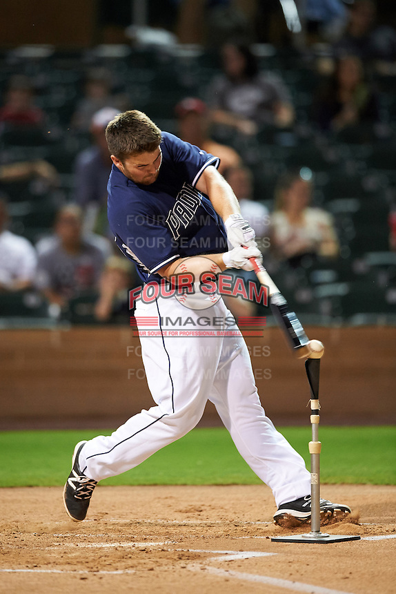 Peoria Javelinas Michael Gettys (23), of the San Diego Padres organization, during the Bowman Hitting Challenge on October 8, 2016 at the Salt River Fields at Talking Stick in Scottsdale, Arizona.  (Mike Janes/Four Seam Images)