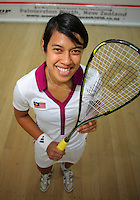 World number one women's squash player Nicol David of Malaysia. Women's World Squash Teams pool play at SquashGym Squash Courts, Palmerston North, New Zealand on Tuesday, 30 November 2010. Photo: Dave Lintott / lintottphoto.co.nz