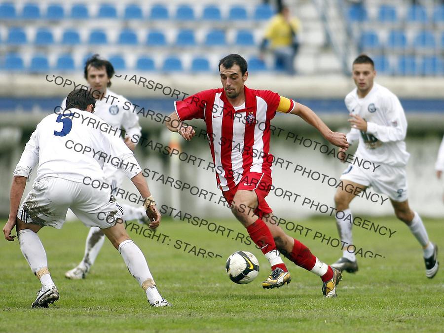 Sport Fudbal Meridian Super Liga Hajduk Kula Crvena Zvezda Nenad Milijas 27.9.2008. photo: Pedja Milosavljevic / STARSPORT
