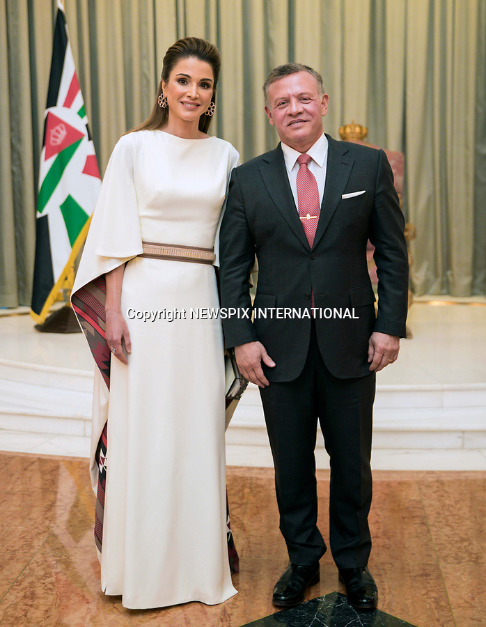 25.05.2017; Amman, Jordan: QUEEN RANIA AND KING ABDULLAH II<br /> attend the national celebrations on the occasion of the 71st anniversary of Jordan's Independence Day at Raghadan Palace, Amman<br /> Mandatory Photo Credit: &copy;Royal Hashemite Court/NEWSPIX INTERNATIONAL<br /> <br /> IMMEDIATE CONFIRMATION OF USAGE REQUIRED:<br /> Newspix International, 31 Chinnery Hill, Bishop's Stortford, ENGLAND CM23 3PS<br /> Tel:+441279 324672  ; Fax: +441279656877<br /> Mobile:  0777568 1153<br /> e-mail: info@newspixinternational.co.uk<br /> &ldquo;All Fees Payable To Newspix International&rdquo;