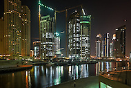 Dubai Marina at night