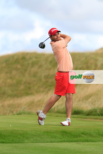 Kelan McDonagh (Athlone) on the 14th during the South of Ireland Amateur Open Championship Third Round at Lahinch Golf Club  29th July 2013 <br /> Picture:  Thos Caffrey / www.golffile.ie