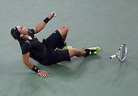 Rafael Nadal (ESP) (1) against Novak Djokovic (SRB) (3) in the final of the men's singles. Rafael Nadal beat Novak Djokovic 6-4 5-7 6-4 6-2..International Tennis - US Open - Day 15 - 13 Sep 2010 - USTA Billie Jean King National Tennis Center - ..© AMN Images, Level 1, Barry House, 20-22 Worple Road, London, UK, SW19 6HU.Tel - +44 20 8947 0100.email - mfrey@advantagemedianet.com.web - http://amnimages.photoshelter.com/.web - www.advantagemedianet.com