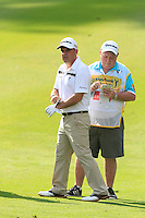 Paul McGinley (IRL) on the 10th fairway during Round 3 of the Maybank Malaysian Open at the Kuala Lumpur Golf & Country Club on Saturday 7th February 2015.<br /> Picture:  Thos Caffrey / www.golffile.ie