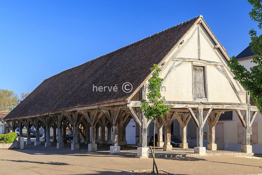 France, Seine-et-Marne (77), Beaumont-du-Gâtinais, les Halles // France, Seine et Marne, Beaumont du Gatinais, Halles