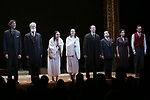 Aaron Halva, Tom Nelis, Adina Verson, Katrina Lenk, Richard Topal, Steven Rattazzi, Mimi Lieber and Max Gordon Moore during the Broadway Opening Night Performance Curtain Call Bows for  'Indecent' at The Cort Theatre on April 18, 2017 in New York City.