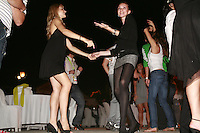 September 23, 2007; Patras, Greece;  (L-R) Olga Piliaki and Evmorfia Dona of Greece dance the night away at banquet after 2007 World Championships Patras.  Photo by Tom Theobald. ...