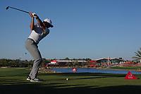 Sergio Garcia (ESP) on the 18th tee during Round 3 of the Abu Dhabi HSBC Championship at the Abu Dhabi Golf Club, Abu Dhabi, United Arab Emirates. 18/01/2020<br /> Picture: Golffile | Thos Caffrey<br /> <br /> <br /> All photo usage must carry mandatory copyright credit (© Golffile | Thos Caffrey)