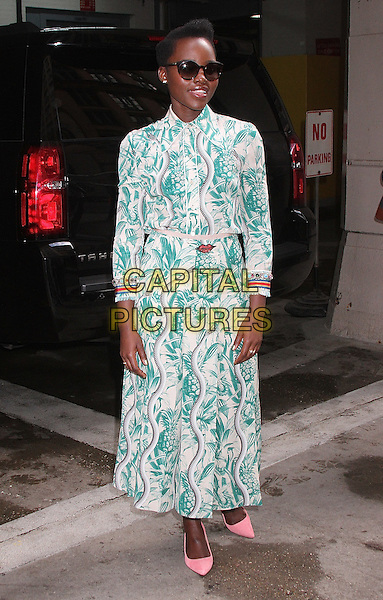 NEW YORK, NY - MARCH 10: Lupita Nyong'o arrives at 'AOL Build' to promote the Broadway play 'Eclipsed' in New York, New York on March 10, 2016.<br /> CAP/MPI/RMP<br /> &copy;RMP/MPI/Capital Pictures