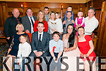 Evan O'Callaghan from Killarney seated in the centre celebrated his confirmation surrounded by family and friends in the Avenue Hotel, Killarney last Friday evening.