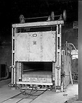 Pittsburgh PA:  View of William Swindell & Brothers Car type Electric Heat Treating Furnace - 1925.  Swindell Dressler International Company was based in Pittsburgh, Pennsylvania. The company was founded by Phillip Dressler in 1915 as American Dressler Tunnel Kilns, Inc.  In 1930, American Dressler Tunnel Kilns, Inc. merged with William Swindell and Brothers to form Swindell-Dressler Corporation. The Swindell brothers designed, built, and repaired metallurgical furnaces for the steel and aluminum industries. The new company offered extensive heat-treating capabilities to heavy industry worldwide.
