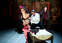 The City Madam by Philip Massinger. A Royal Shakespeare Company Production directed by Dominic Hill. With Pippa Nixon as Shave'em, Nathaniel Martello-White as Goldwire, Christopher Chilton as Ding'em, Opens at The SwanTheatre  ,Stratford Upon Avon on 10/5/11  CREDIT Geraint Lewis