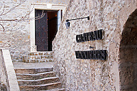 An elegant stone stair case at the winery leading up to the chateau building Chateau Vannieres (Vannières) La Cadiere (Cadière) d'Azur Bandol Var Cote d'Azur France