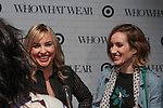 (l-r) Hillary Kerr and Katherine Power give an interview to press during the Target + Who What Wear launch of the Who What Wear collection, on January 27, 2016.