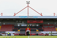 General view of the main stand ahead of Crawley Town vs Grimsby Town, Sky Bet EFL League 2 Football at Broadfield Stadium on 9th March 2019