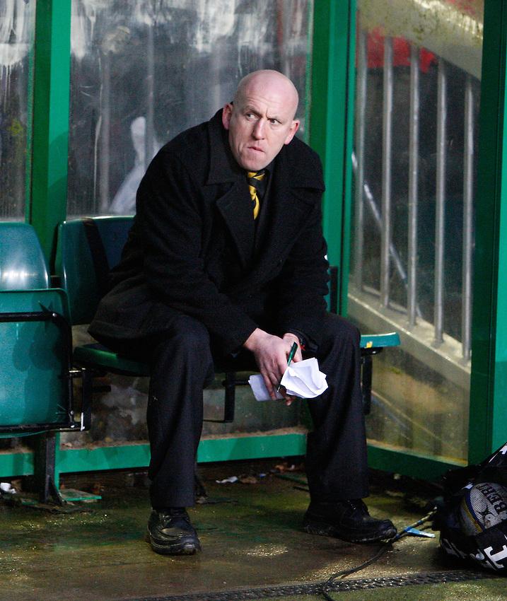 Photo: Richard Lane/Richard Lane Photography. Leicester Tigers v London Wasps. Aviva Premiership. 19/02/2011. Wasps' Head Coach, Shaun Edwards.