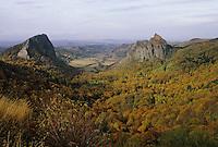 Europe/France/Auvergne/63/Puy-de-Dôme/Parc Régional des Volcans/Env. d'Orcival: La roche Tuilière et la roche Sanadoire