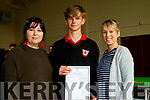 Wall Support<br /> ------------------<br /> L-R teacher  Rebbeca Wall, with Cian Wall and his mom Aine  from Derrymore at Me&aacute;n Scoil Nua an Leith Tri&uacute;igh, Castlegregory last Wednesday for the Junior Cert results.