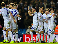 Leeds United's Jack Harrison celebrates scoring his side's second goal <br /> <br /> Photographer Alex Dodd/CameraSport<br /> <br /> The EFL Sky Bet Championship -  Leeds United v Derby County - Friday 11th January 2019 - Elland Road - Leeds<br /> <br /> World Copyright &copy; 2019 CameraSport. All rights reserved. 43 Linden Ave. Countesthorpe. Leicester. England. LE8 5PG - Tel: +44 (0) 116 277 4147 - admin@camerasport.com - www.camerasport.com
