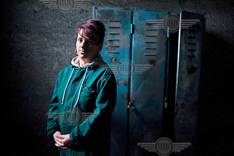 38 year old Claudia Pavel who has 20 years experience working as a machinest in the Petrila mine