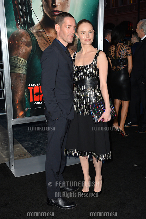 Kate Bosworth &amp; Michael Polish at the US premiere for &quot;Tomb Raider&quot; at the TCL Chinese Theatre, Los Angeles, USA 12 March 2018<br /> Picture: Paul Smith/Featureflash/SilverHub 0208 004 5359 sales@silverhubmedia.com