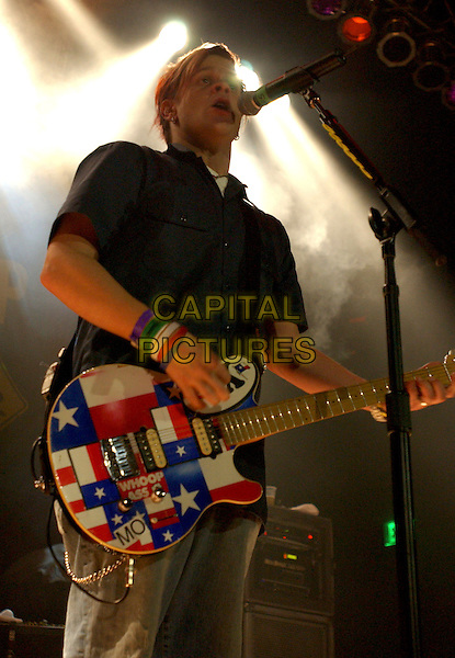 Jaret Von Erich of BOWLING FOR SOUP.perform live at The House of Blues Anaheim in Anaheim, California, USA, January 14th 2005.half length guitar gig concert music.Ref: DVS.www.capitalpictures.com.sales@capitalpictures.com.©Debbie VanStory/Capital Pictures .