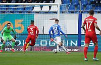 Chance für Mathias Honsak (SV Darmstadt 98) - 07.03.2020: SV Darmstadt 98 vs. VfL Bochum, Stadion am Boellenfalltor, 2. Bundesliga<br /> <br /> DISCLAIMER: <br /> DFL regulations prohibit any use of photographs as image sequences and/or quasi-video.