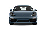 Car photography straight front view of a 2018 Porsche 718 Cayman S 2 Door Coupe